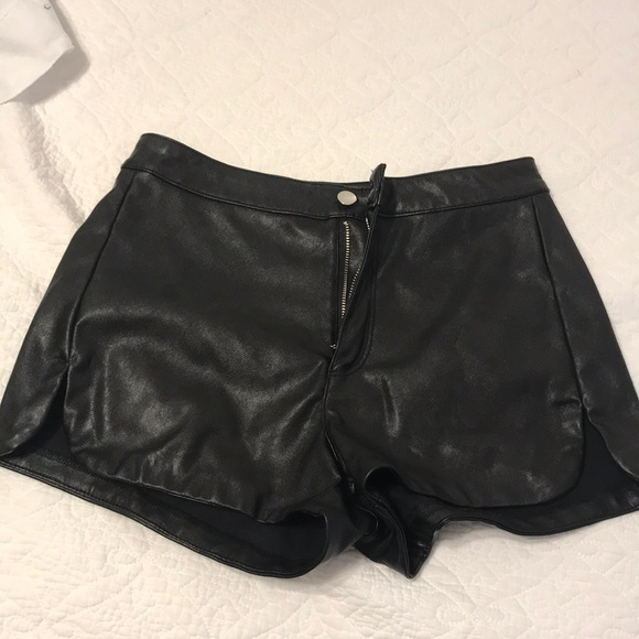 Forever 21 Pants - Black leather shorts
